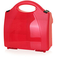 Click Medical Eclipse Box Red with Partitions Ref CM1003