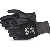 Superior Glove Emerald CX Nylon S/Steel Nitrile Palm 8 Black Ref SUS13KBFNT08