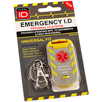Vitalid Emergency ID Universal Fit Tag Wsid-05 Ref WSID05