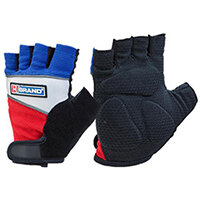 B-Brand Fingerless Gel Grip Gloves Size L - Extra grip, Gel Inserts, Comfort Fit, Reflective Piping, Ideal for use with Power Tools, For Sport or Gym Use. Ref FGG01L