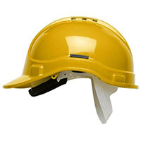 Scott Safety Style 300 HC300EL Vented Helmet with Terylene Standard Headgear Yellow Ref HC300VELY