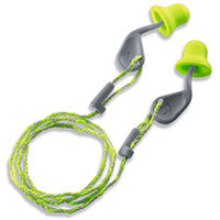 Uvex Xact-Fit Corded Ear Plug SNR 26dB Green/Grey Ref 2124-001 Pack of 50