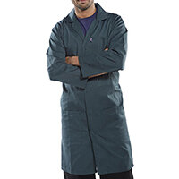 Click Workwear Poly Cotton Warehouse Coat 42in Chest Spruce Green Ref PCWCS42