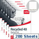 Nobo Recycled A1 Flipchart Pad Perforated 100gsm 40 Sheets Pack 5