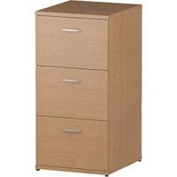 3 Drawer Filing Cabinet WxDxH 500x600x1125mm Oak