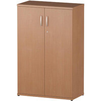 Medium Cupboard With 2 Shelves (3 Shelving Compartments) H1200xD400xW800mm Beech