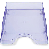 A4/Foolscap Polystyrene Continental Letter Tray Ice Purple