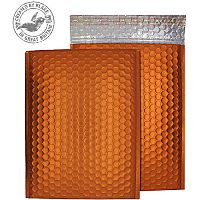 Purely Packaging Bubble Envelope P&S C5+ Matt Metallic Orange Ref MTO250 [Pk 100]