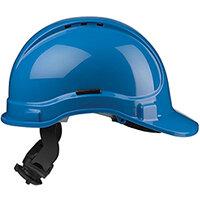 Scott Safety Style 300 HC335EL Vented Helmet with Terylene Ratchet Headgear Blue Ref HC335VELB