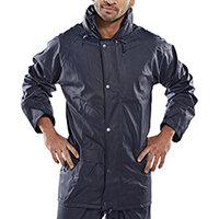 B-Dri Weatherproof Super B-Dri Jacket with Hood Size S Navy Blue Ref SBDJNS