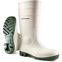 Dunlop Protomastor Safety Wellington Boot Steel Toe PVC Size 6 White Ref 171BV06