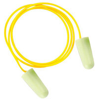 JSP PU Foam Soundstopper Ear Plugs with Cord Pack of 100 Yellow SNR=33