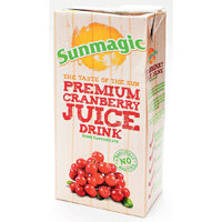 Sunmagic 1 Litre Premium Cranberry Juice Drink Pack of 12