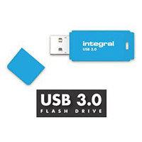 Integral Neon 128GB USB 3.0 Flash Drive Blue