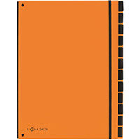 Pagna A4 12 Compartment Master Organiser Orange Pack of 8