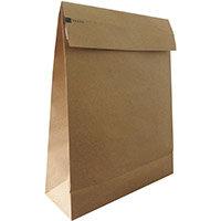 Kraft Mlr Eco Expanding Block Btm & Side Gusset Dbl P&S 162x229x40mm +100 flapC5 ManRefRBL10527 Pack of 50