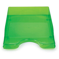 A4/Foolscap Polystyrene Continental Letter Tray Ice Green