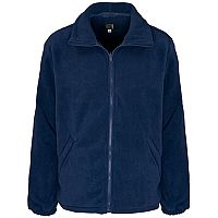 Supertouch Basic Fleece Jacket with Elasticated Cuffs and Full Zip Front Small Navy Ref 59091
