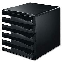 Post Set Filing Unit A4 Black 5 Drawers