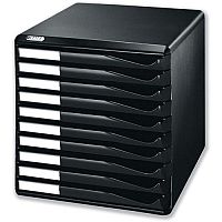 Leitz Desktop Filing Unit Black A4 10 Drawers