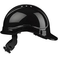 Scott Safety Style 300 HC335EL Vented Helmet with Terylene Ratchet Headgear Black Ref HC335VELBLK