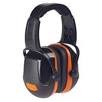 Scott Safety Zone 2 Industrial Headband Ear Defender Black & Orange Ref Z2HBE