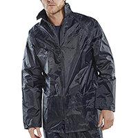 B-Dri Weatherproof Lightweight Nylon Jacket with Hood Size S Navy Blue Ref NBDJNS
