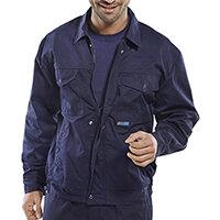 Super Click Workwear Drivers Jacket 36 inch Navy Blue Ref PCJHWN36