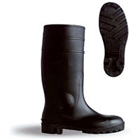 B-Dri Footwear Budget Semi Safety PVC Wellington Boots Size 3 (36) Black - Steel Midsole, Various Chemical Resistant, Oil Resistant Outsole, 100% Waterproof Ref BBSSB03
