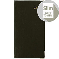 Collins 2020 Classic Pocket Diary Week to View Sewn Binding 80x152mm Black Ref CAPV 2020