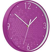 Leitz WOW Wall Clock 291x291x43mm Purple Ref 90150062