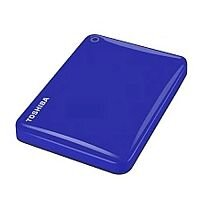 Toshiba Canvio Connect II Hard Drive USB 3.0 and 2.0 Compatible 2TB Blue Ref HDTC820EL3CA