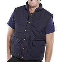 Click Workwear Quebec Bodywarmer Work Vest Size M Navy Blue Ref QNM