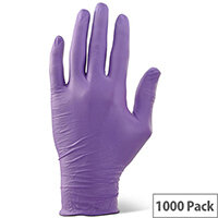 Click2000 Nitrile Examination Gloves Powder Free M Purple Pack of 1000 Ref NDGPFPUM