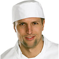Click Workwear Chefs Skullcap White Ref CCCSCW