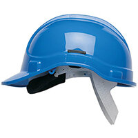 Scott Safety Style 300 HC300EL Unvented Helmet with Terylene Standard Headgear Blue Ref HC300ELB