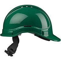 Scott Safety Style 300 HC335EL Vented Helmet with Terylene Ratchet Headgear Green Ref HC335VELG