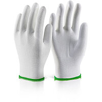 Click2000 Polyester Knitted Liner Work Gloves Size M (8) White Pack of 10 Pairs Ref EC11M