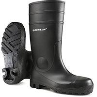 Dunlop Protomastor Safety Wellington Boot Steel Toe PVC Size 6 Black Ref 142PP06