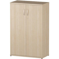 Medium Cupboard With 3 Shelves H1200mm Maple