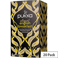 Pukka Individually Enveloped Tea Bags Elegant English Breakfast Ref 5060229011596 Pack of 20