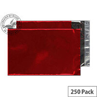 Purely Packaging C5 Metallic Red Foil Pocket 70 Mic Protective Envelopes Pack of 250