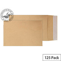 Purely Packaging Envelopes Peel and Seal Manilla 120gsm 254x178x25mm Pack of 125