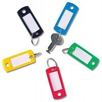 5 Star Key Hanger Standard with Fob Label Assorted [Pack 20]