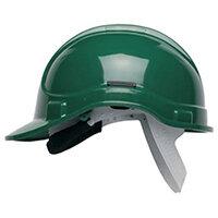 Scott Safety Style 300 HC300EL Unvented Helmet with Terylene Standard Headgear Green Ref HC300ELG