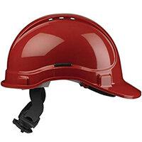 Scott Safety Style 300 HC335EL Vented Helmet with Terylene Ratchet Headgear Red Ref HC335VELRE