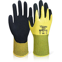 Wonder Grip WG-310H Comfort Hi-Vis Glove Medium Yellow Ref WG310HSYM Pack of 12