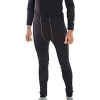 Click Workwear Base Layer Long John Trousers Size XL Black Ref BLLJXL