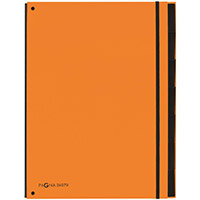 Pagna A4 7 Compartment Master Organiser Orange Pack of 10