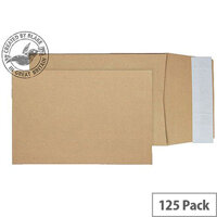 Purely Packaging Envelope P&S 120gsm C5 229x162x25mm Manilla Ref 5000 [Pack 125]